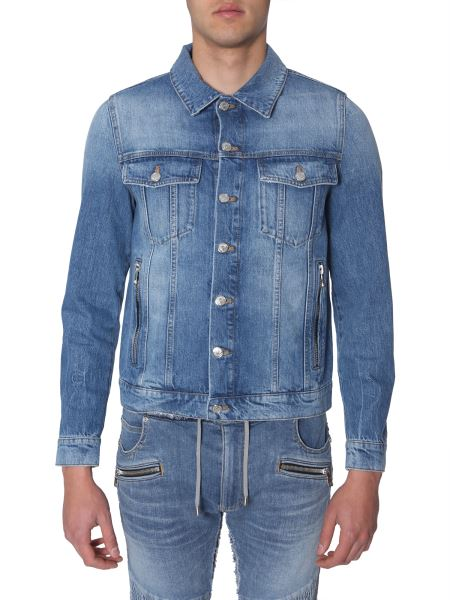 Balmain - Denim Jacket With Embroidered Logo On The Back