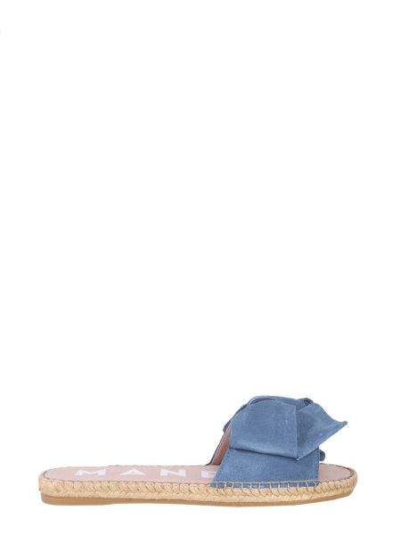 Manebi - Flat Suede Sandal With Bow
