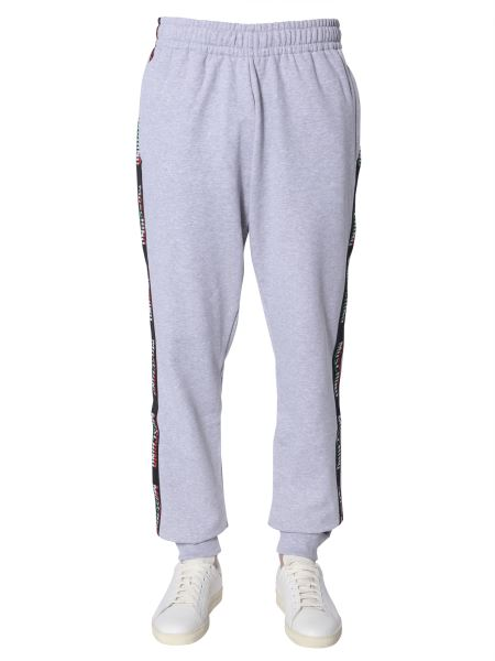 Moschino - Cotton Sweatpants With Side Bands