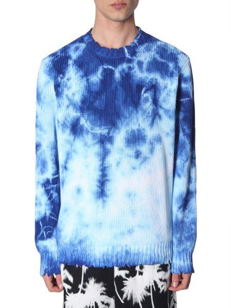 Msgm - Tie Dye Cotton Crew Neck Sweater