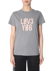 "RED VALENTINO - T-SHIRT CON STAMPA ""LOVE YOU"""