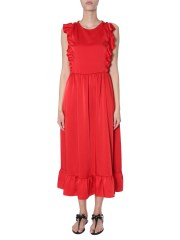 RED VALENTINO - ABITO IN COMPACT POPELINE STRETCH