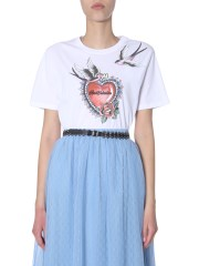 RED VALENTINO - T-SHIRT CON STAMPA TATTOO