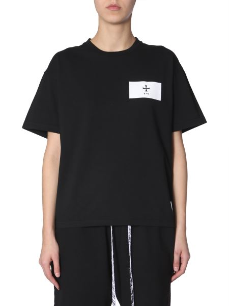 Riccardo Comi - Cotton Crew Neck T-shirt With Patch Logo