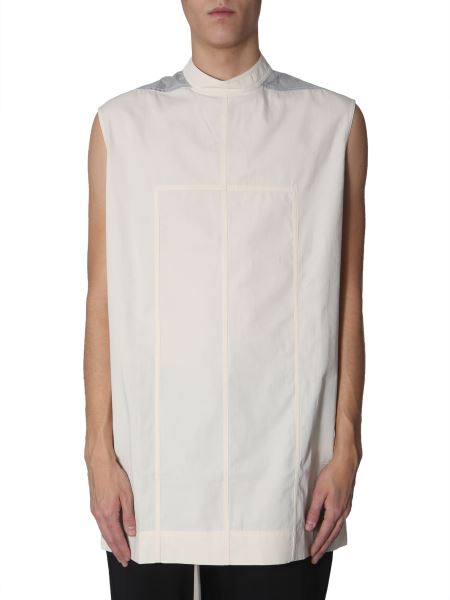 Rick Owens Drkshdw - Long Top With Laminated Insert
