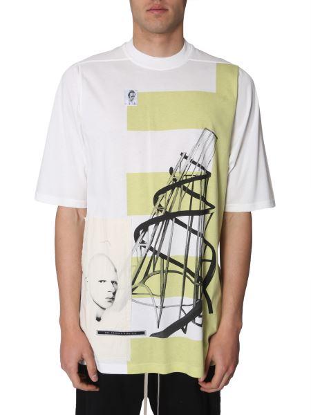 Rick Owens Drkshdw - Jumbo Patch-detail Printed-cotton T-shirt