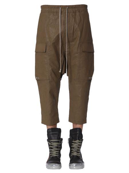 Rick Owens - Pantalone Cargo Cropped In Lino E Cotone