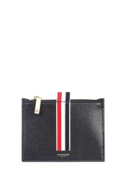 THOM BROWNE - PORTA MONETE CON STRIPE INTARSIATE