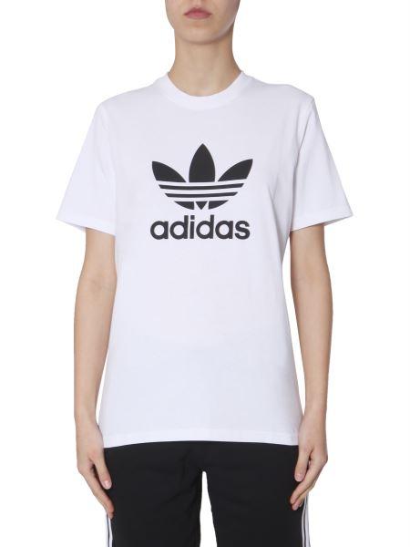 Adidas Originals - T-shirt Girocollo Con Stampa Logo