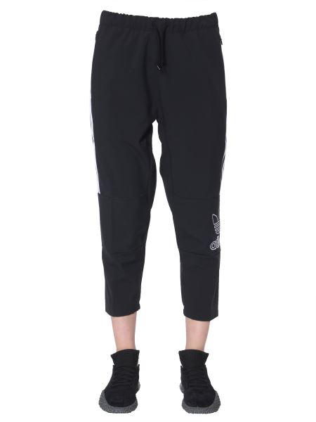 Adidas Originals - Pantalone Cropped In Tessuto Tecnico Con Bande Laterali