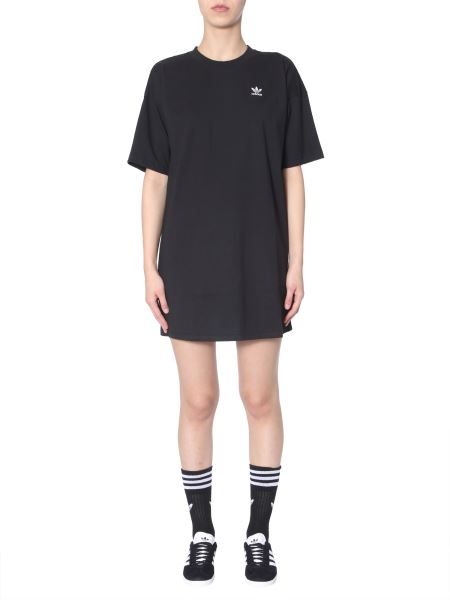 Adidas Originals - Cotton Dress With Embroidery And Logo Print