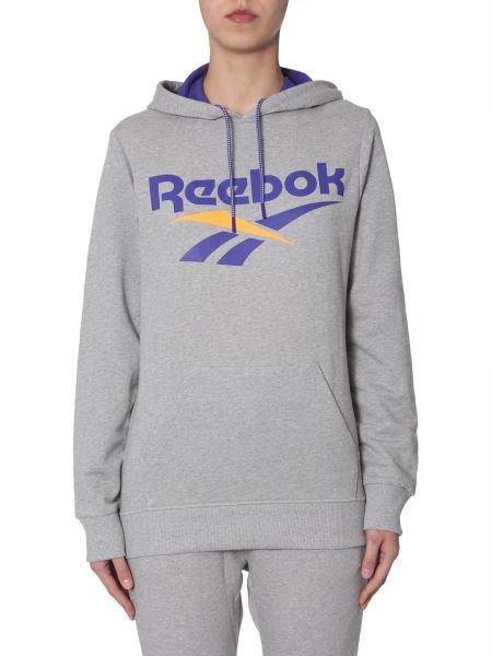 Reebok Classics - Hooded Cotton Sweatshirt With Logo Print