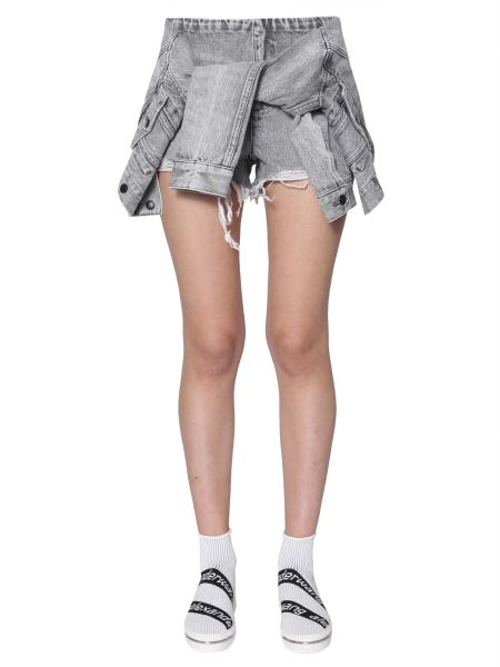 Alexander Wang - Denim Shorts With Shirt Detail