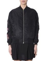 MCQ ALEXANDER MCQUEEN - BOMBER CON PATCH PSYCHO BILLY MONSTER