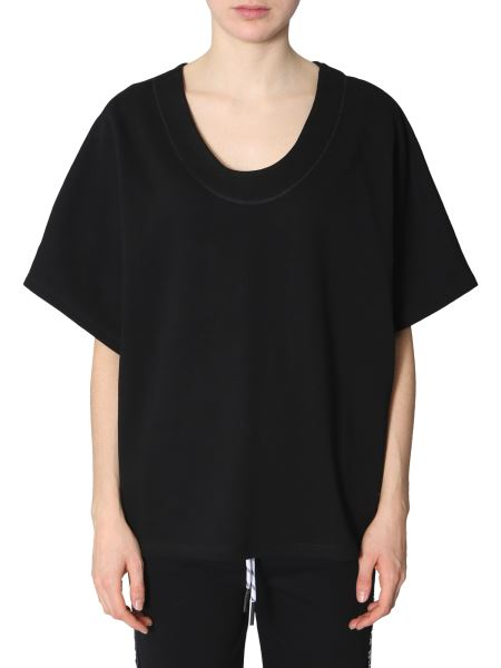 Mcq Alexander Mcqueen - Cotton Sweatshirt With Short Sleeves And Logo Side Band