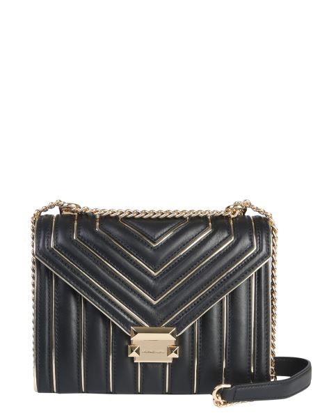 Michael By Michael Kors - Whitney Leather Shoulder Bag With Stud Details