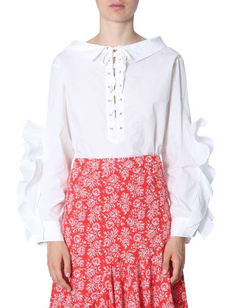 """Jovonna London - Camicia """"karine"""" In Cotone Con Volant"""