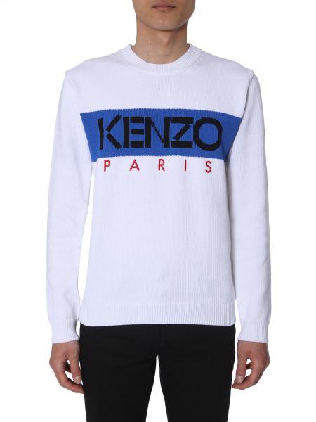 Kenzo - Maglia Girocollo In Misto Cotone Con Logo Kenzo