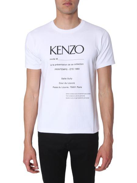 Kenzo - T-shirt Girocollo In Misto Cotone