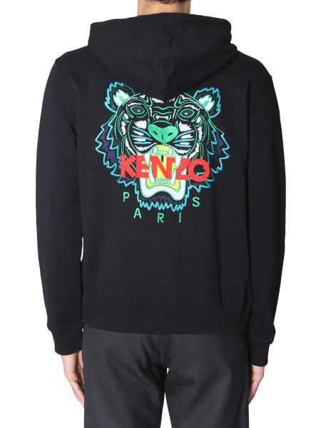 Kenzo - Felpa Con Cappuccio E Zip