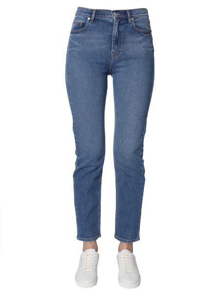 23984a25 Kenzo High Waist Slim Fit Jeans In Denim Stretch Women - Eleonora ...