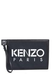 KENZO - POUCH CON LOGO GOMMATO