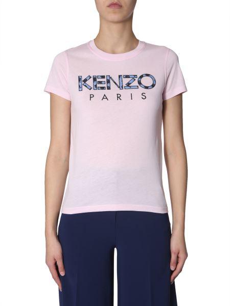 Kenzo - Cotton Crew Neck T-shirt With Logo