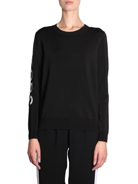 Michael By Michael Kors - Sweater With Inlay Logo On Sleeve