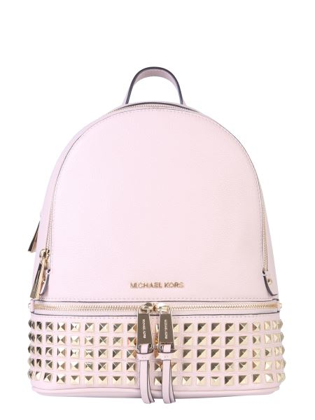 Michael By Michael Kors - Medium Rhea Zip Leather Backpack With Studs