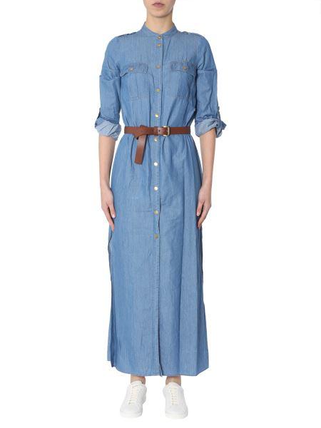 Michael By Michael Kors - Long Denim Dress With Belt