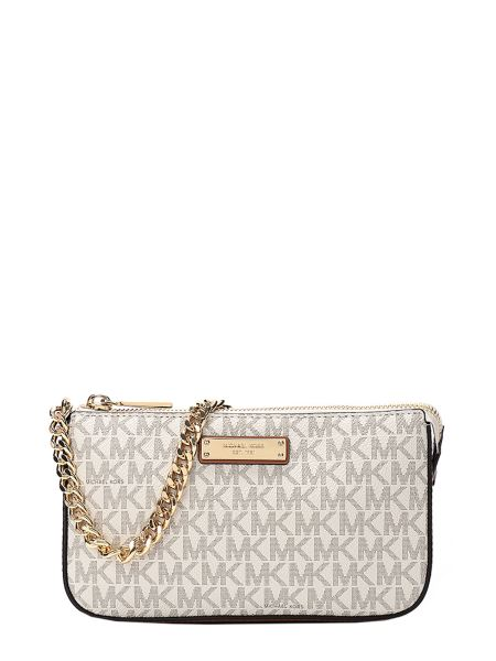 Michael By Michael Kors - Logo Clutch With Chain