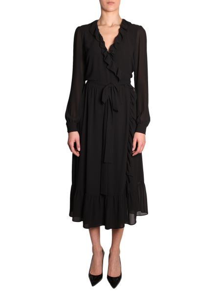Michael By Michael Kors - Midi Dress With Ruches