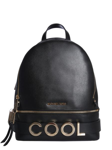 Michael By Michael Kors - Rhea Zip Leather Backpack With Logo