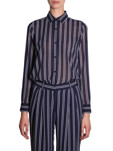 Michael By Michael Kors - Striped Shirt In Crêpe