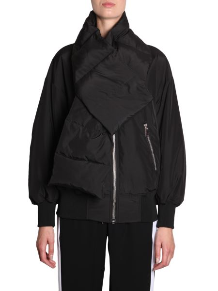 Michael By Michael Kors - Nylon Bomber With Scarf Collar
