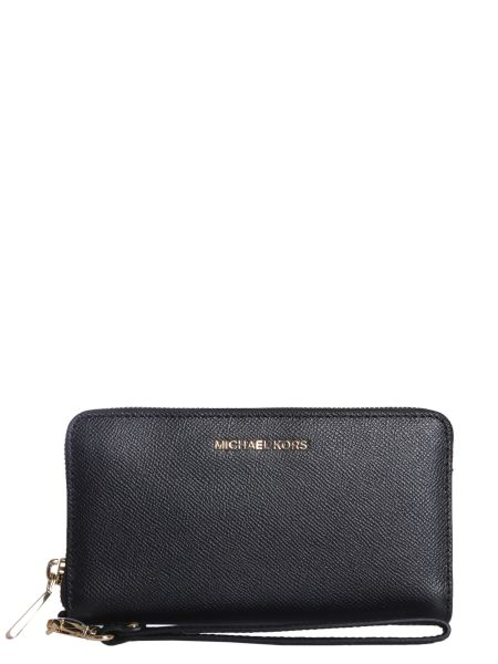 Michael By Michael Kors - Jet Set Travel Wallet In Hammered Leather