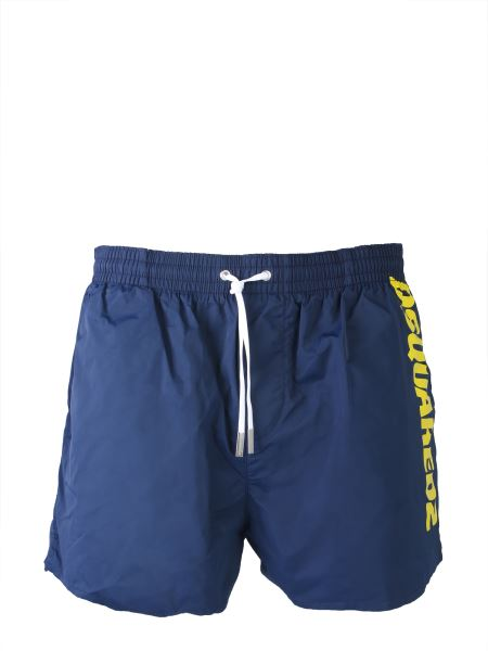 Dsquared - Logo Printed Boxer Swimsuit