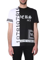 VERSACE - T-SHIRT CON STAMPA LOGO MIX