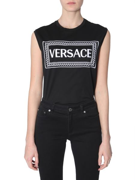 Versace - Cotton Top With Embroidered Logo