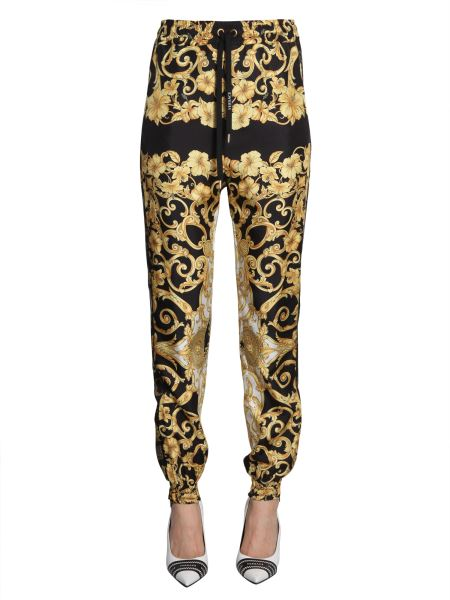 Versace - Baroque Print Jogging Silk Trousers