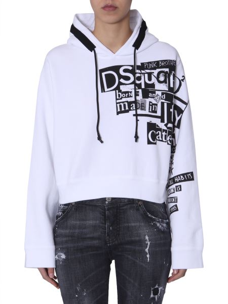 Dsquared - Cool Fit Cotton Sweatshirt With Hood