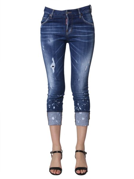 Dsquared - Cool Girl Fit Cropped Jeans