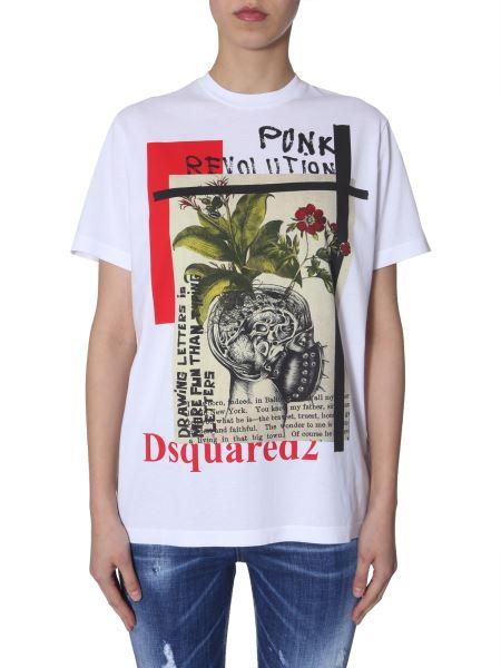 Dsquared - Printed Cotton Crewneck T-shirt
