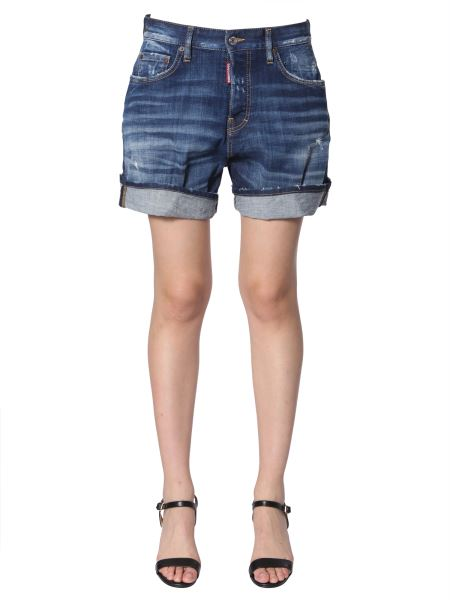 Dsquared - Denim Shorts With Cuffs