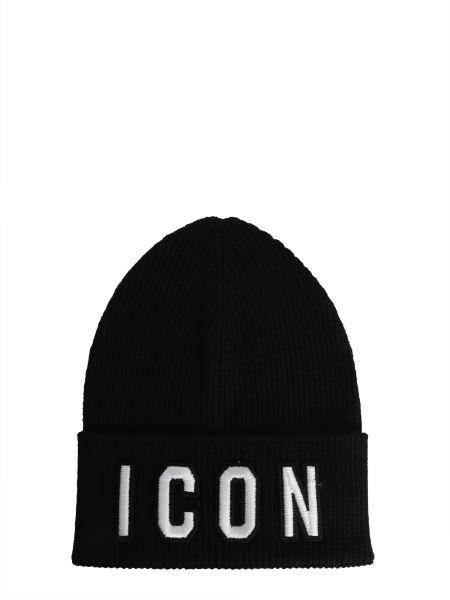 Dsquared - Cappello In Lana Con Patch Logo