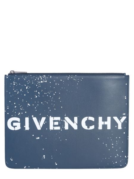 Givenchy - Pouch In Pelle Con Logo