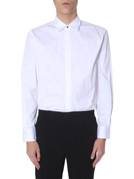 Givenchy - Camicia In Popeline Di Cotone Con Bottoni Logati