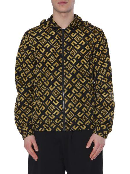Givenchy - Giacca A Vento In Tessuto Tecnico Con Stampa Motivo Logo 4g