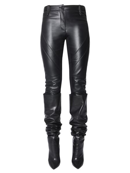 Alberta Ferretti - Leather Pants With Knit Insert