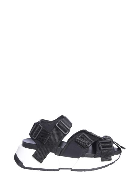 Mm6 Maison Margiela - Safety Strap Runner Sneakers With Wedge